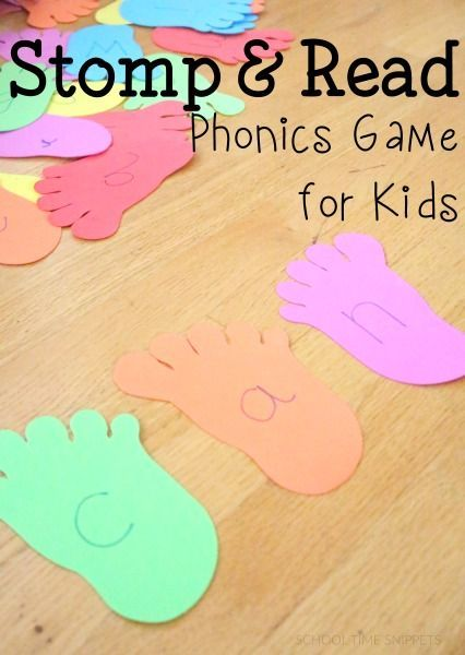 Make reading fun with this Stomp & Read Phonics Game for Kids!  Just two materials needed to get your child reading simple CVC words.