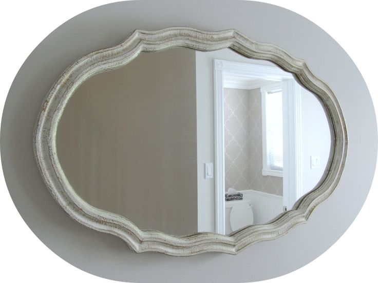 How to Add Vintage Elements to Your Home - vintage white distressed mirror