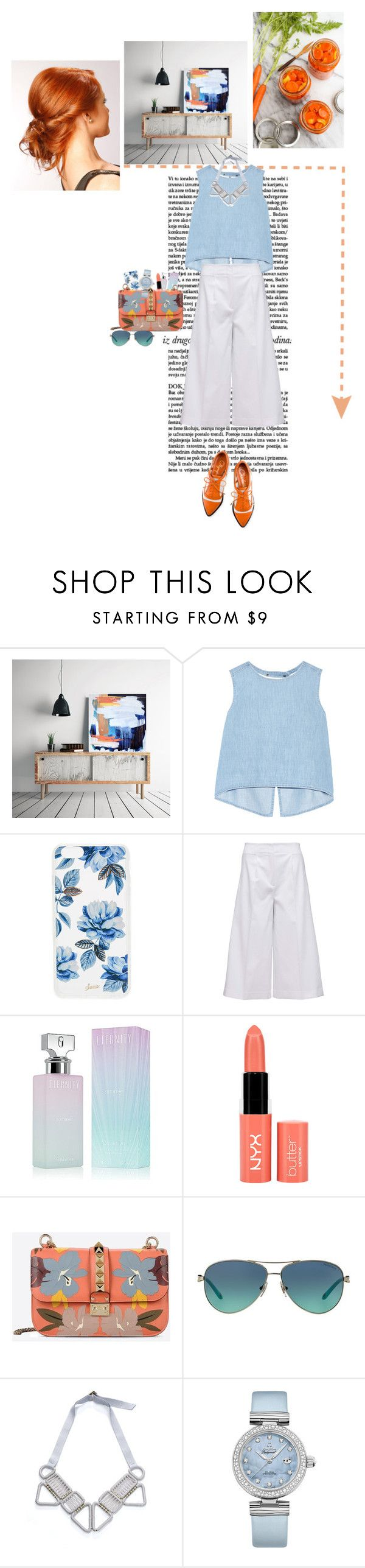 """""""№47 2016"""" by akatonbo ❤ liked on Polyvore featuring Charlotte Olympia, Steve J & Yoni P, Sonix, Tommy Hilfiger, Calvin Klein, NYX, Valentino, Tiffany & Co. and OMEGA"""