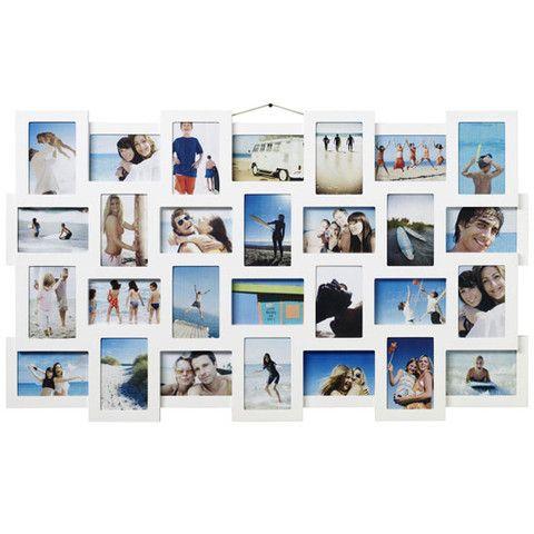 studio 28 multi frame white multiple aperture frame - Multiple Photo Frame