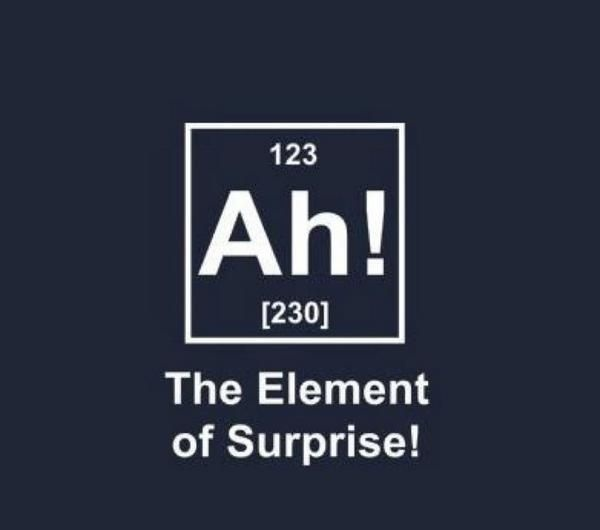 193 best periodic table awesomeness images on pinterest the element of surprise humor periodic table atomic funny urtaz Choice Image