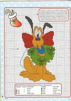 Disney Christmas Cross Stitch Patterns   cross stitch pattern on the Christmas stocking - free cross stitch ...