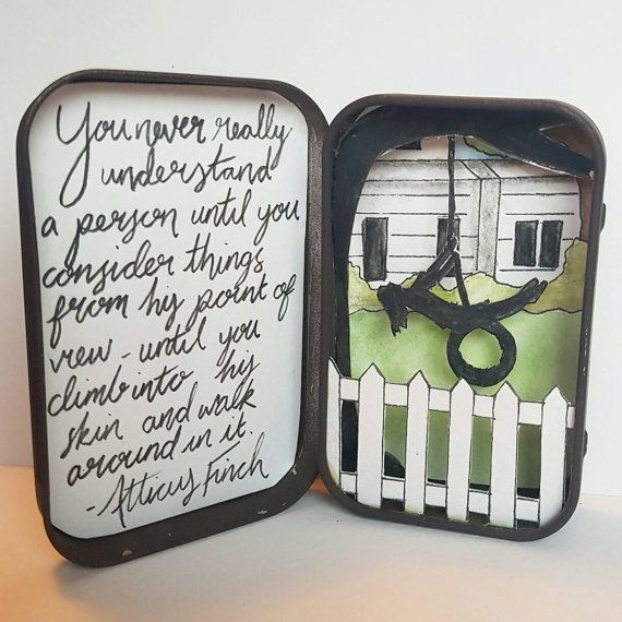 To Kill A Mockingbird Inspired Hand Drawn Painted And Cut