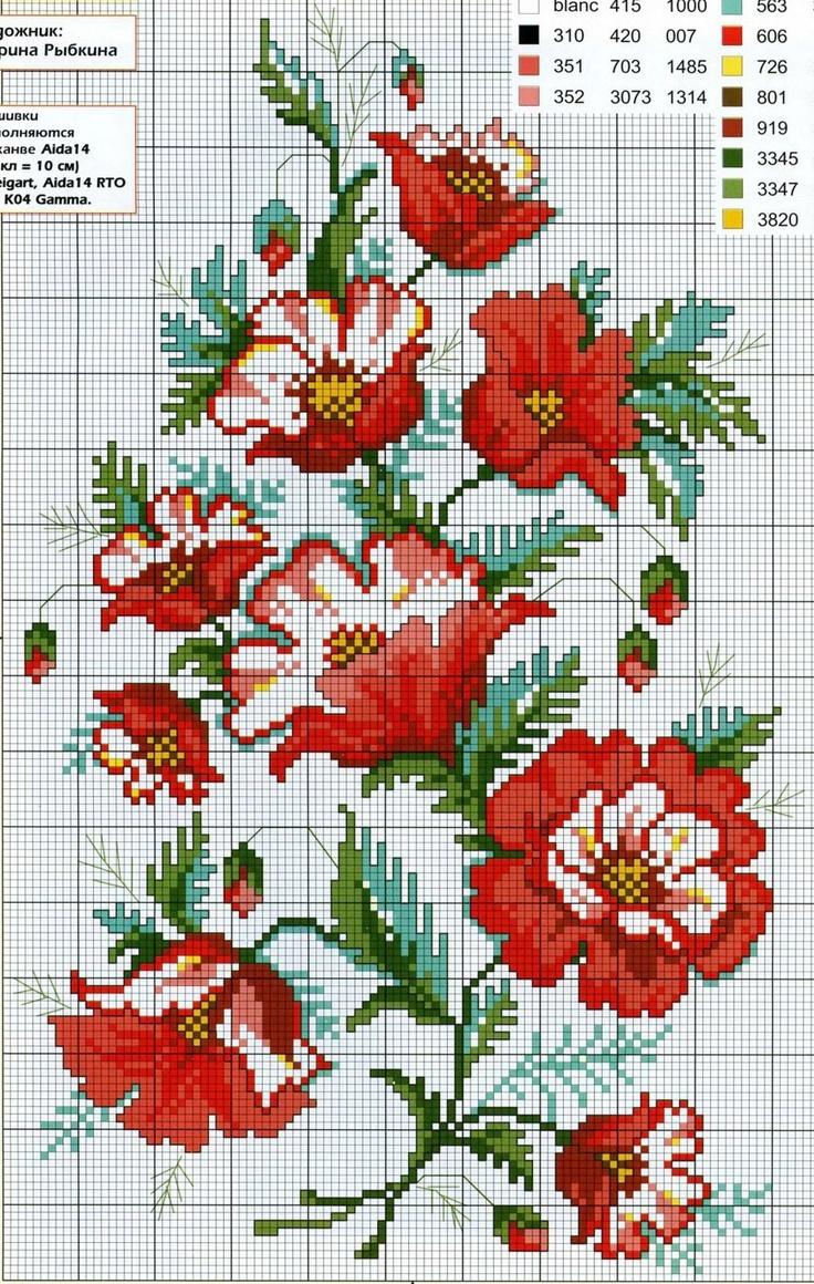 Cross-stitch Flowers...    ENCANTOS EM PONTO CRUZ: Flores