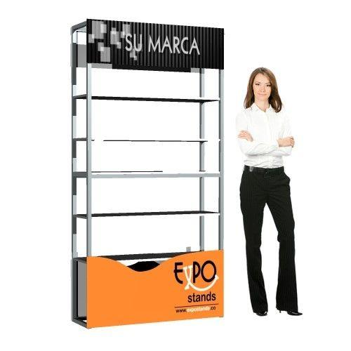Exhibidor tipo repisa,  Display portátil con repisas o entrepaños