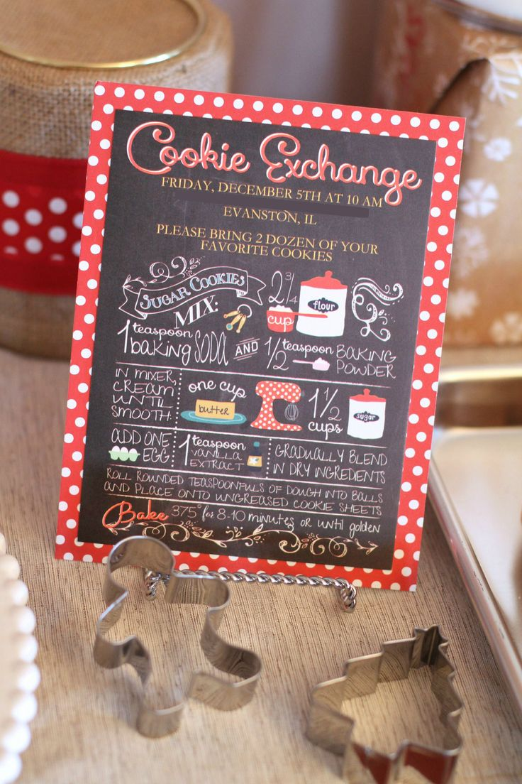17 best cookie exchange images on Pinterest | Black, Chalkboards ...