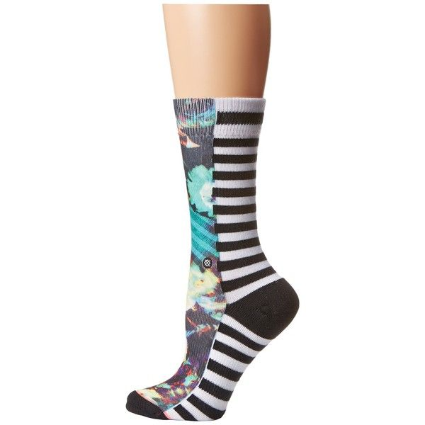 Stance Ghostrider Women's Crew Cut Socks ($14) ❤ liked on Polyvore featuring intimates, hosiery, socks, cuff socks, crew socks, seamless socks y stance socks
