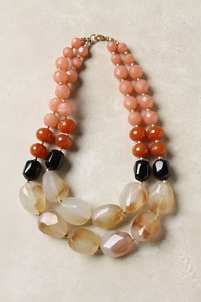 good progression of colors and spacing: Jewelry Necklaces, Statement Necklaces, Jewelry Inspiration, Beads Necklaces, Pebble Necklaces, Bridesmaid Jewelry, Colors Combinations, Papaya Pebble, Stones Necklaces
