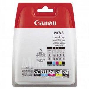 Komplet Oryginalnych Tuszy Canon PGI-570/CLI-571 PGBK/C/M/Y/BK Multipack