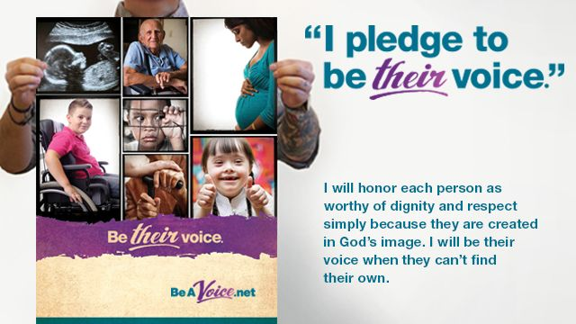 "During this Sanctity of Human Life week, make the commitment to view every life as beautifully unique, formed in His image and deeply loved by Him -- and by us! It only takes 30 seconds to take the pledge and we'll give you a certificate to remind you to be their voice!  AND you'll receive a free download of the ""Best Pro-Life Broadcasts"" and an article about the myths surrounding Down Syndrome."