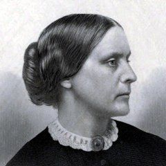 """Susan B Anthony: I will cut off this right arm of mine before I will ever work or demand the ballot for the Negro and not the woman."""""""