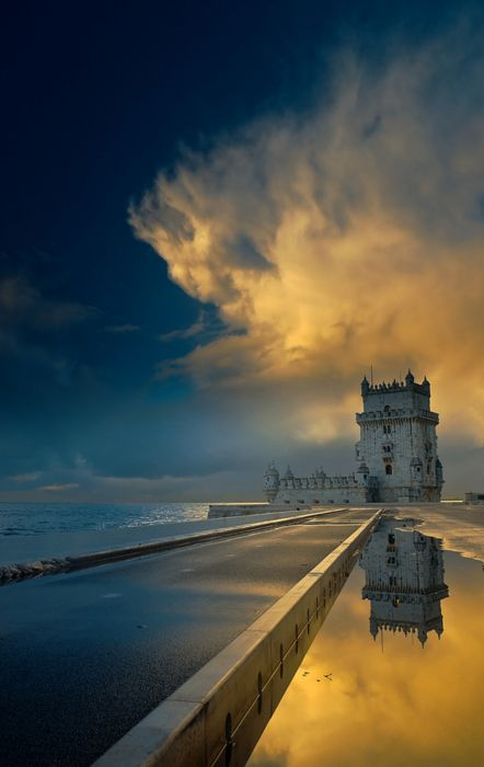 Belem Tower, completed in the 16th century, is a UNESCO World Heritage Site - Lisbon, Portugal.