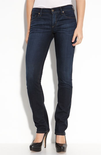 Citizens of Humanity 'Ava' Straight Leg Stretch Jeans (Faith Dark Wash) available at #Nordstrom