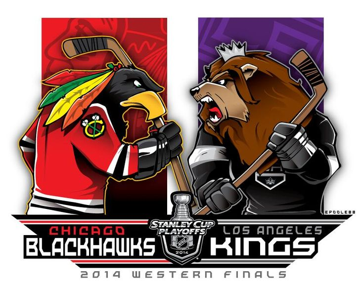 Found on #TSN's #BarDown, this is Eric Poole (EPoole88)'s rendition of the Western Conference final matchup. This is really cool! See more of his work at epoole88.tumblr.com.