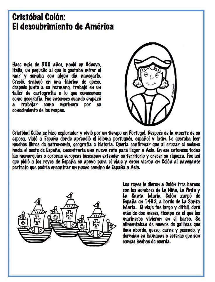 Magnífico Columbus Para Colorear Ilustración - Ideas Para Colorear ...