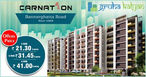 GruhaKalyan CARNATION at Bannerghatta Road 2BHK, 3BHK & 4BHK Flats/Apartments Available Land Mark:- Opposite IIMB Next to APPOLO Hospital.