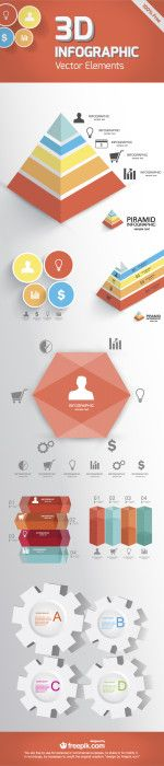 FREE DOWNLOAD: 3D INFOGRAPHIC VECTOR ELEMENTS | PSD Templates ...