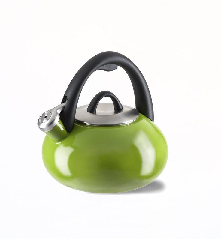 Calphalon Enamel Tea Kettle, 2-quart, Apple Green | Home,sweet ...