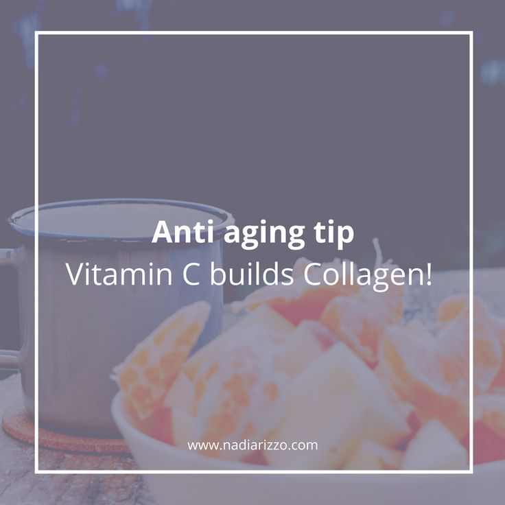 Anti aging tip: Vitamin C builds Collagen!! #beautytips #tips