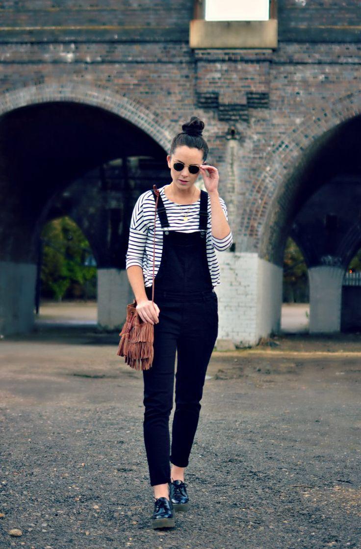 burkatron: what I wore   dungarees + breton