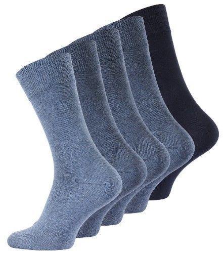 2 x Herren Socken Größe 43-46 5er Pack Jeansfarben !