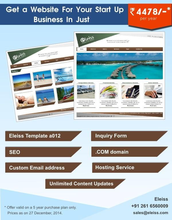 A nice #website template in #travels business theme. #eleiss template a012