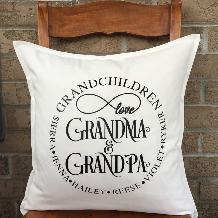 Grandchildren Pillow, Grandparents Pillow, Personalized Grandchildren Pillow, Personalized Pillow, Custom Pillow, Grandkids Gift by PMWBoutique on Etsy https://www.etsy.com/listing/251688324/grandchildren-pillow-grandparents-pillow