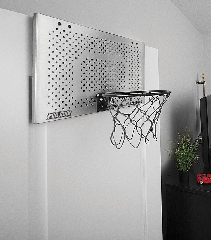 Pro Mini Basketball Hoop Indoor Playground Office Door Mount Backboard Ball New…