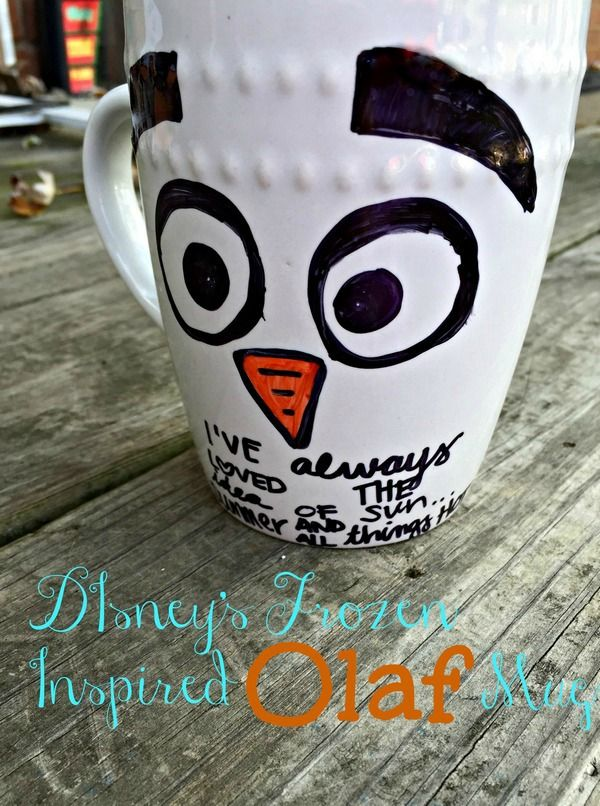 Looking for an easy Disney's Frozen craft for kids? This Olaf mug is super cute. It also makes a terrific handmade gift idea!