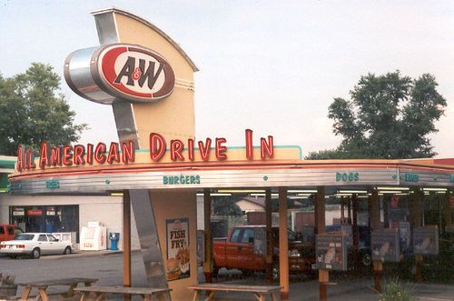 Old A & W Drive-in