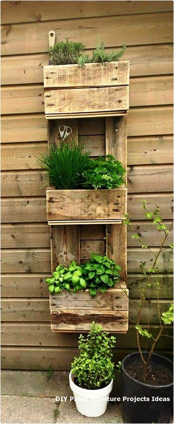 40 Diy Easy Vertical Pallet Planters Ideasnew Diy Pallet Projects And Ideas On A Budget Palletfurni Herb Garden Pallet Pallet Diy Pallets Garden