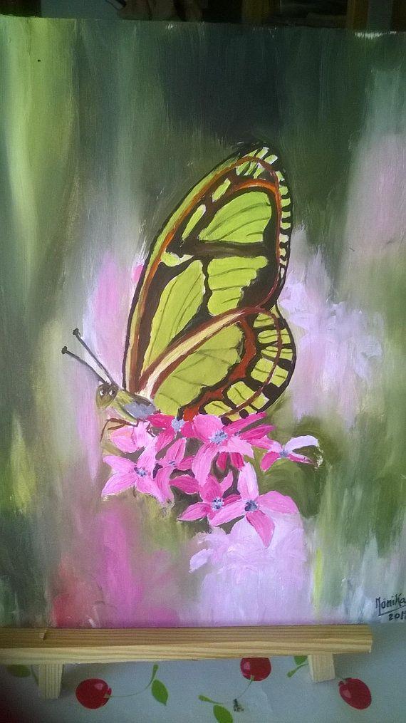 Tableau motif papillon, nature, zen, peinture