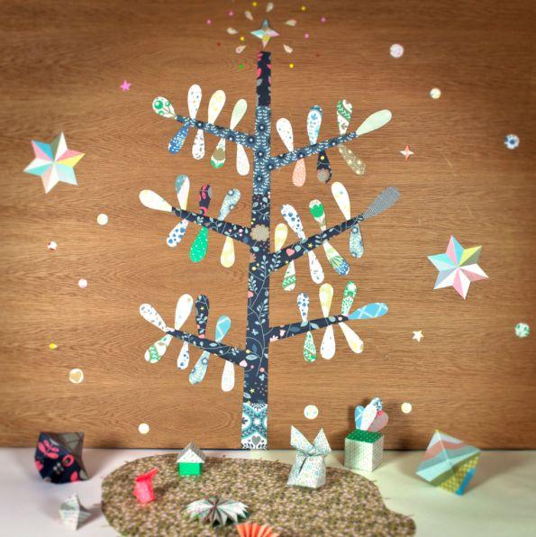 arbre mini labo, stickers, couleurs, motifs