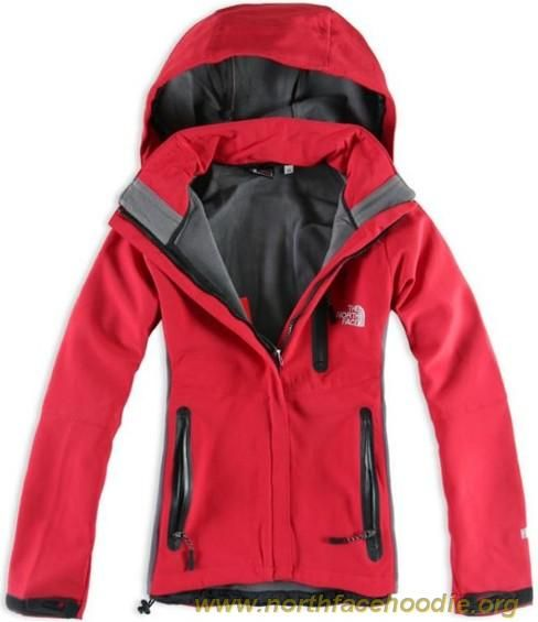 chaqueta north face roja