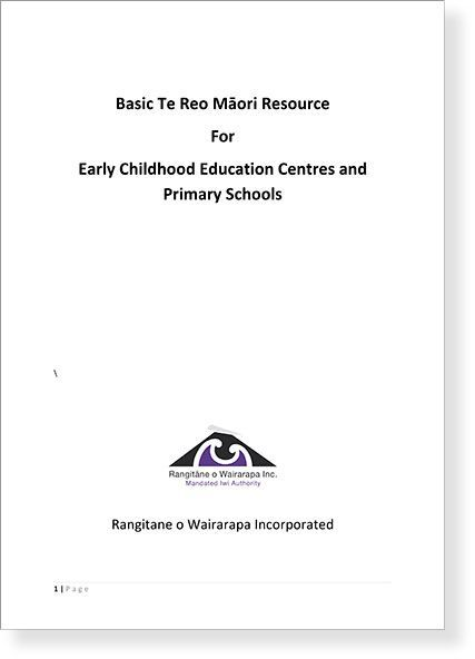 Basic Te Reo Māori Resource   Rangitāne o Wairarapa Education