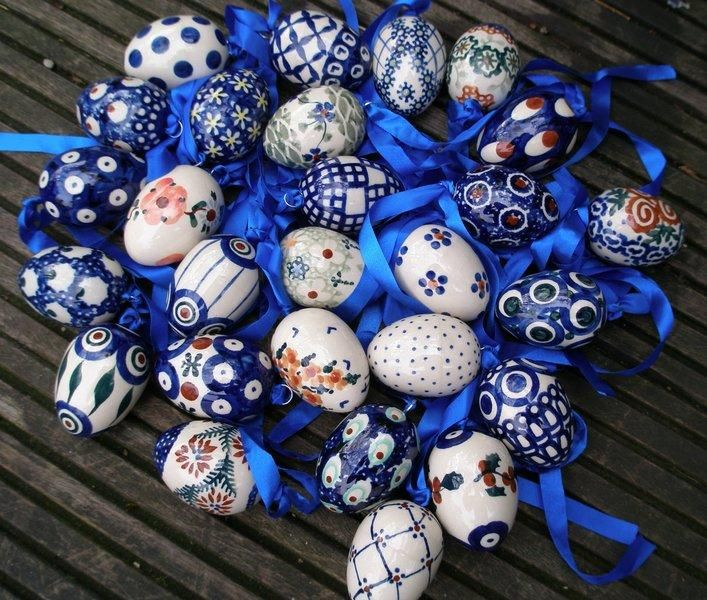 Easter eggs by Polish pottery!