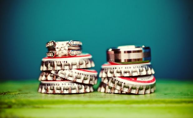 Beer Tops | Creative Food Engagement & Wedding Ring Ideas #love #ring #wedding