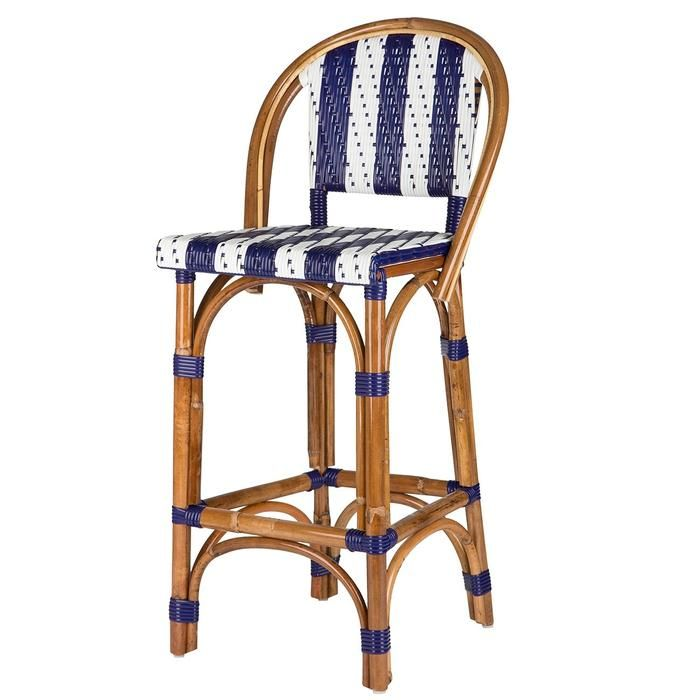 Blue And White Mediterranean Bistro Bar Stool With Back 26 Bar Stools Bar Stools With Backs Stools With Backs