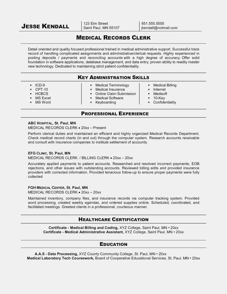 30 account receivable clerk resume in 2020 medical