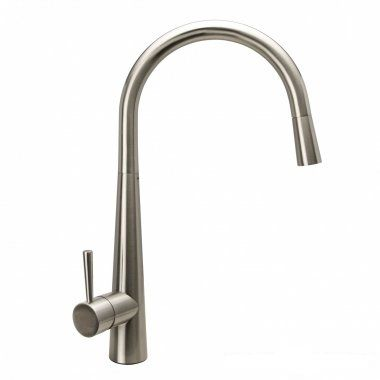 Della Brushed Steel Kitchen Mixer Tap - Pull Out Spray [PT-TK268] - £102.84 : Platinum Taps & Bathrooms