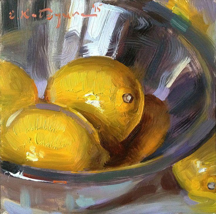 Frendly Lemons by Elena Katsyura Oil ~ 6 x 6