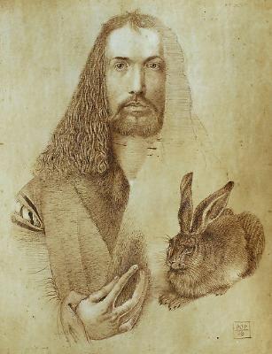 DURER Albrecht - German painter/engraver (Neurenberg 1471 - 1528) ~ study for self portrait.