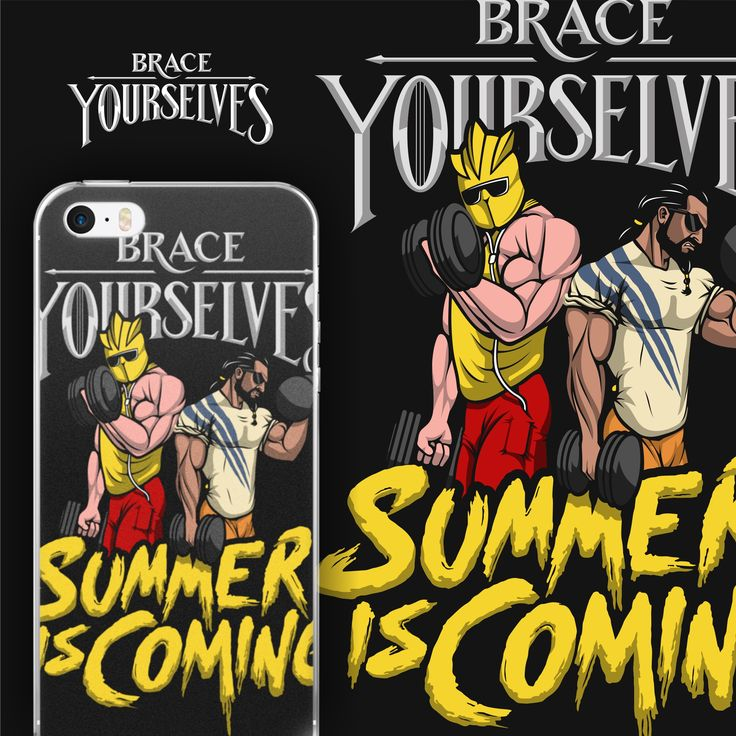 Khal Drogo and The Mountain are getting ready for this summer! Are you?! Let everyone know how much you love to curl those dumbbells!  *This design can be found EXCLUSIVELY on our website https://www.brace-yourselves.com/  Tags: phone case, iphone case, game of thrones iphone case, game of thrones merch, game of thrones fan art, summer is coming, game of thrones the mountain, the mountain phone case, khal drogo phone case, khal drogo game of thrones,