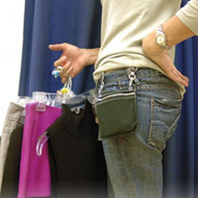 7e287302632a Brilliant idea--two hip clips with a zippered purse pouch