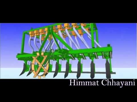 ‪SEED DRILL Seed Sowing Machine  ( ઓટોમેટીક ઓરણી )‬‏ - YouTube