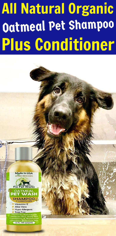 Pro Pet Works Natural Oatmeal Shampoo Conditioner In One For Dogs Cats Pet Shampoo Oatmeal Dog Shampoo Dog Shampoo