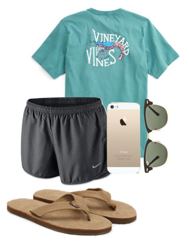 """""""won't be on polyvore for a while....."""" by sofiaestrada ❤ liked on Polyvore featuring Club Monaco, NIKE and Ray-Ban"""