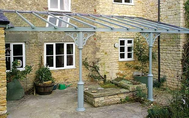 Modern take on a Victorian veranda for front of house