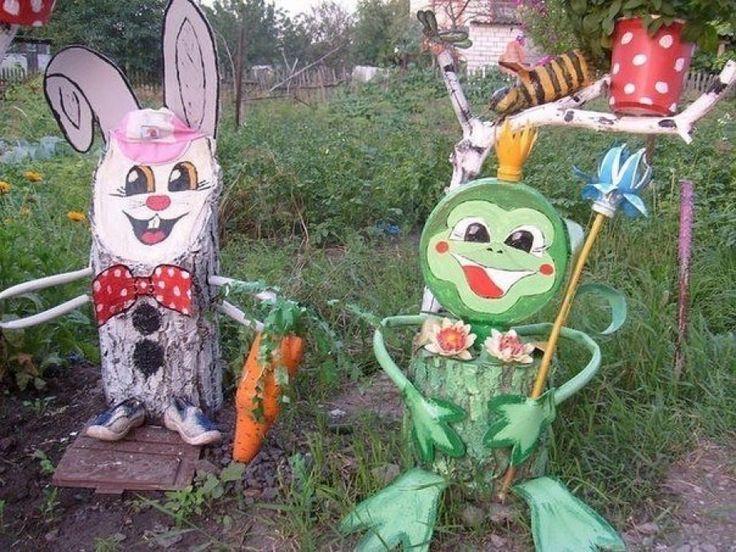 Забавные фигурки на даче