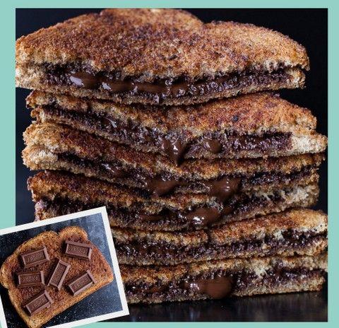 MyFridgeFood - Grilled Cinnamon Chocolate Sandwich
